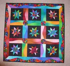 Curved Borders & Stars Quilt